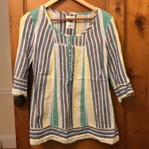 Striped tunic-style top
